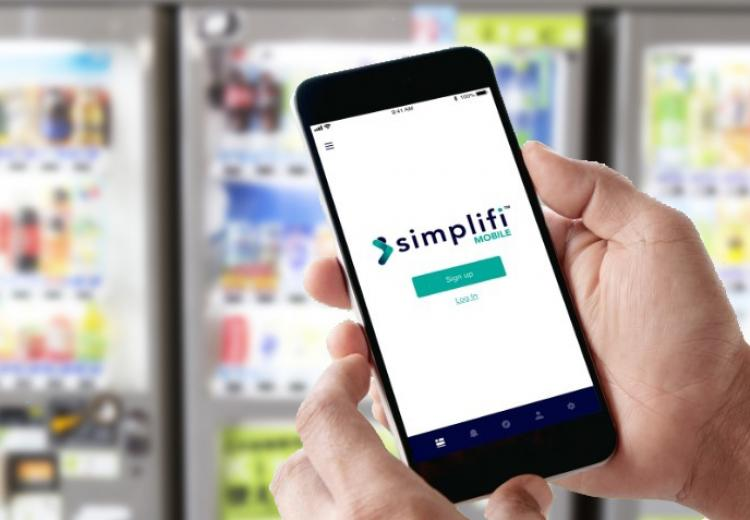 Connected Cash with Simplifi vending hero